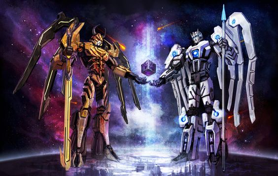 Creation of Cybertron - Primus and Unicron - Forming The Beautiful Planet Cybertron - Transformers