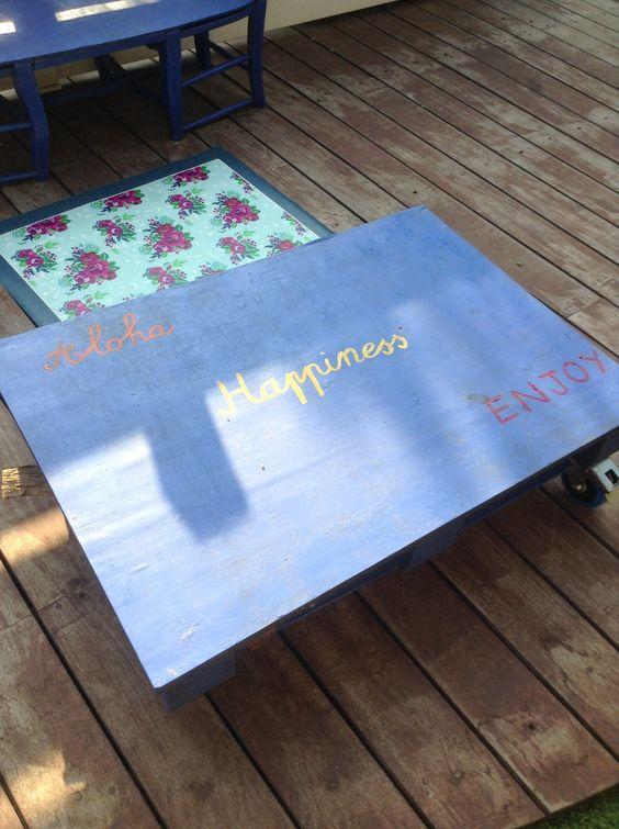 Palette table de jardin