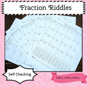 Fraction Riddles: Add, Subtract, Multiply, and Divide | Riddles ...