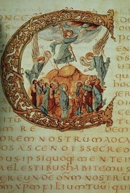 "The Sacramentary of Drogo, one of the gospel illustrated manuscripts from the Carolingian Revival. wikipedia Western Europe came crawling out of the ""Dark Ages"" with the arrival of Frankish kings, whom, in collaboration with the papacy in Rome,..."