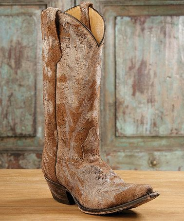 Johnny Ringo Boots Brown Embroidered T-Toe Distressed Leather ...