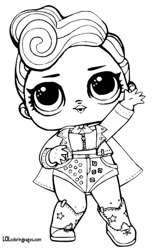 The Queen Lol Surprise Doll Coloring Page Lol Surprise Dolls