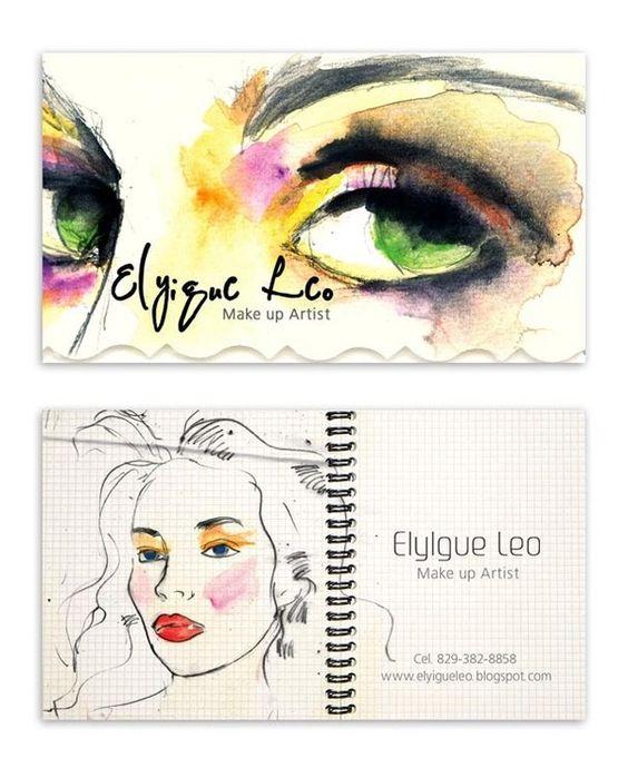 Makeup Artist Cards  by Paolat De la Cruz, via Behance