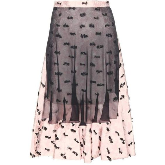 Balenciaga Layered Jacquard Skirt (€1.230) ❤ liked on Polyvore featuring skirts, pink, balenciaga skirt, jacquard skirt, layered skirt, purple skirt and pink skirt