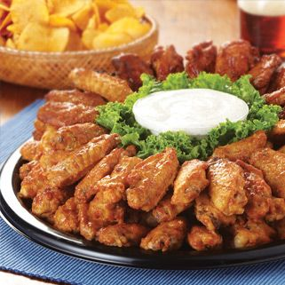 Wing Party Tray from H-E-B is easily ordered online for your party needs