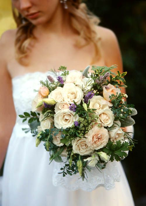 Wedding Bouquets With Lots Of Greenery : Gorgeous and overflowing bouquet with rich textures lots