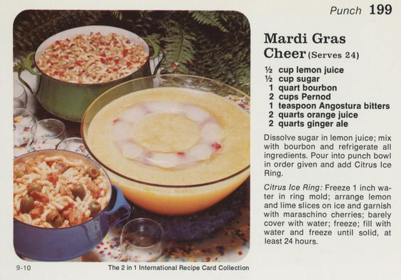 Mardi Gras punch with Pernod!