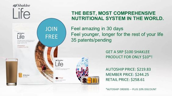 Shaklee Life Plan is the best, most comprehensive nutritional system in the world.
