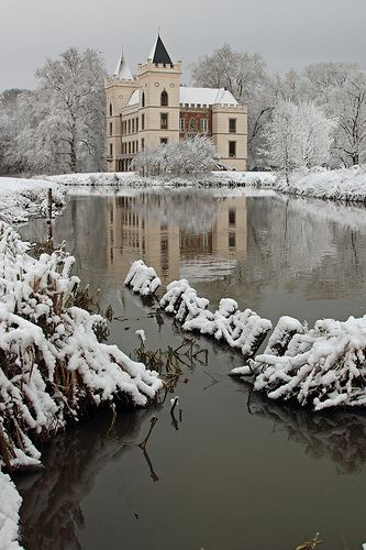 Castle Beverweerd during wintertime, The Netherlands