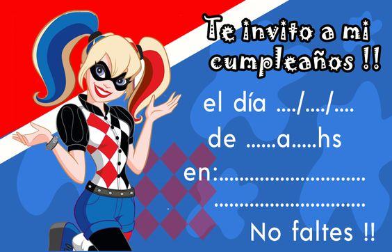 Kit imprimible candy bar Harley Quinn Animada para cumpleaños CandyBarGratis.com presenta el Kit imprimible candy bar Harley Quinn para cumpleaños. Encontraras imágenes de Harley Quinn para que realices una excelente fiesta con la temática que le encanta