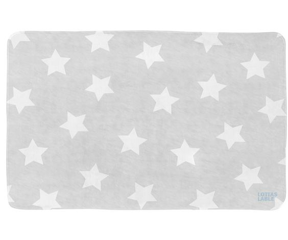 Lottas Lable Teppich 130x190cm Softie Sterne grau