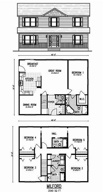The Best Simple House Floor Plans 2 Story Floor Plans House Plans Simple House