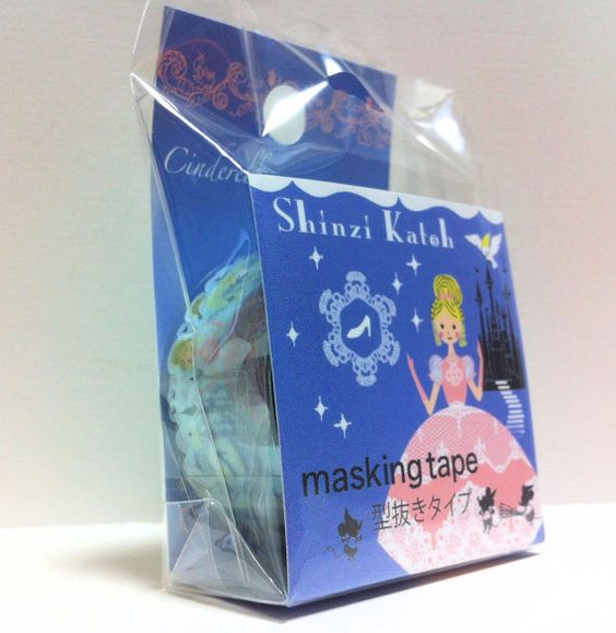 Kawaii Japan Deco Masking Tape: Shinzi Katoh Series 1 Cinderella #washi #deco #masking #tape #japanese #kawaii
