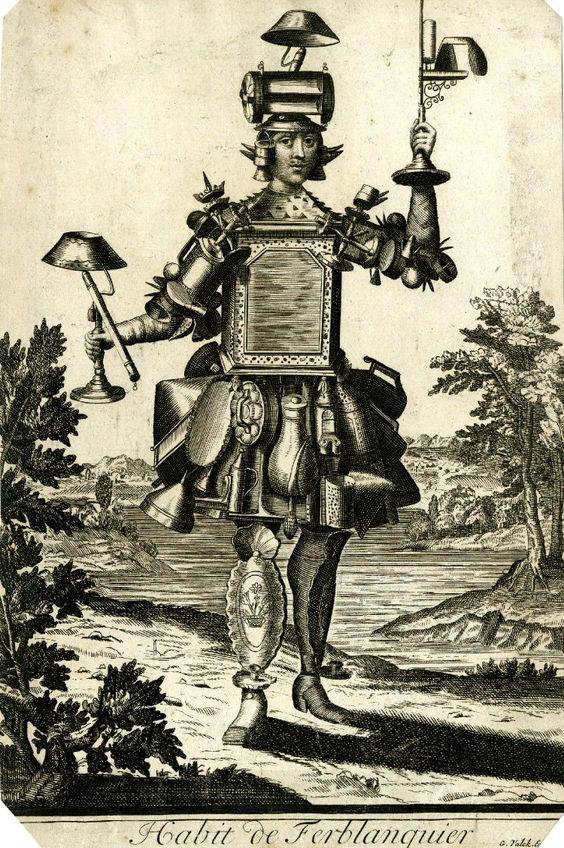 costume à bruits (habit de ferblanquier,Nicolas de Larmessin)