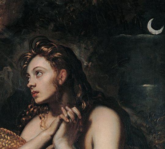 Tintoretto c. 1599-1602 Penitent Magdalene #cartoonart #artinspiration