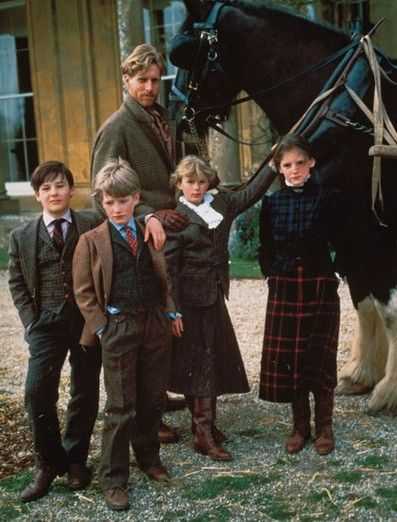 Tweed and tartan. I like this but my children would have rebelled if I had tried make them dress like this.