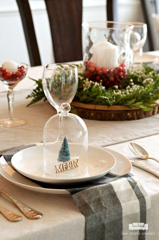 Simple And Natural Christmas Table Decor Christmas Table Decorations Christmas Table Table Decorations