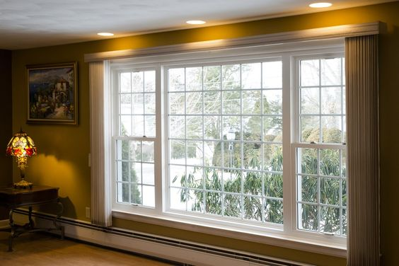 picture window between double hung window - Google Search