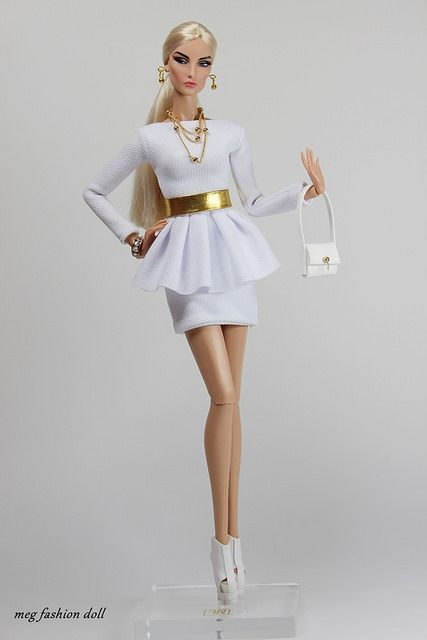 New outfit for Fashion Royalty / FR 12 '' White '' | por meg fashion doll