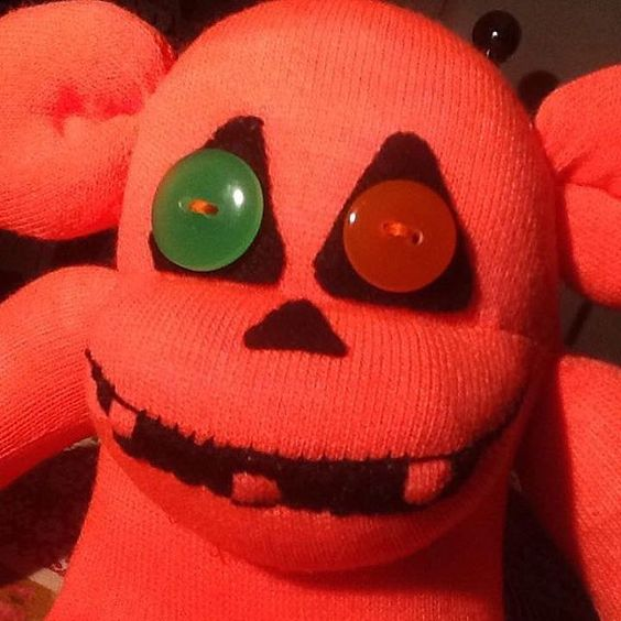 Scare the trick or treaters last year made this #Halloween #sockmonkeys #scary #sunnyteddys #handmade #sewing