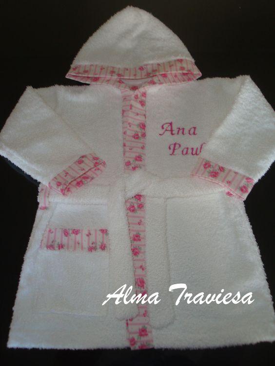 Salida de ba o bata de toalla de doble felpa blanquer a para beb s pinterest - Toallas para bano ...