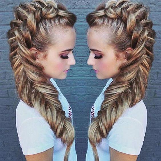 It's a great day to practice your Dutch fishtail braid!!  LINK IN BIO  #heatherchapmanhair I teach  unicorn hair