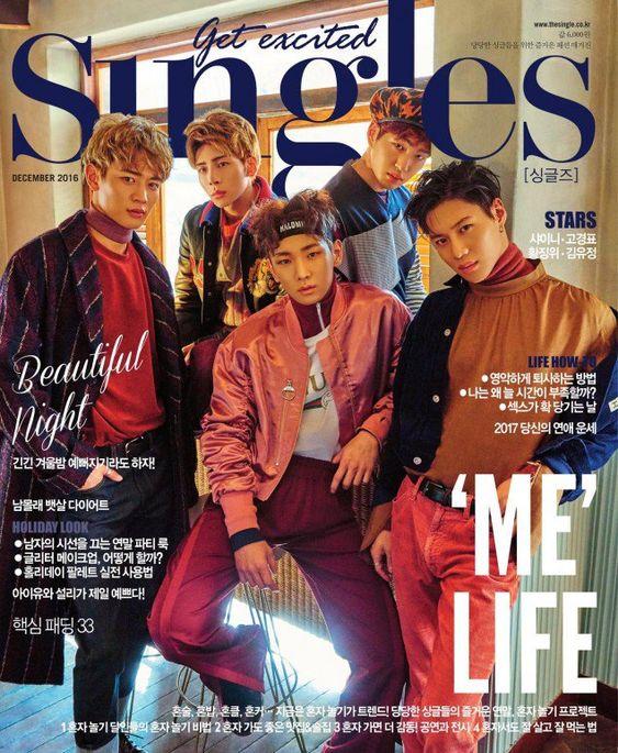 雑誌の表紙を飾るSHINee