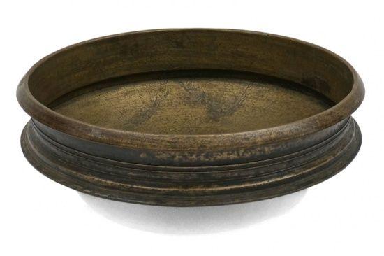 Large Round Bronze Urli Bowl India Circa 1920 Bronze Bowl Garden Pots