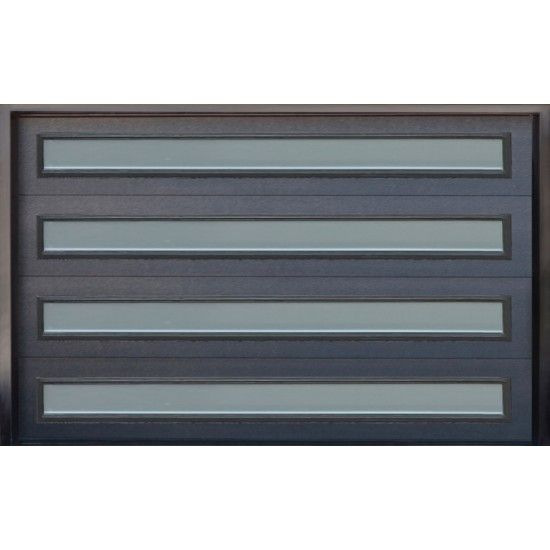 Contemporary Steel Garage Door With Glass Inserts Model Arg12 Steel Garage Doors Contemporary Garage Doors Garage Doors