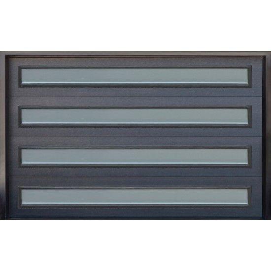 Contemporary Steel Garage Door With Glass Inserts Model Arg12 Steel Garage Doors Contemporary Garage Doors Garage Doors