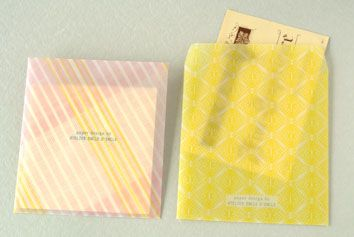 トレーシング封筒6柄セット【メール便不可】 - 紙モノのアトリエ アンクルダンクル
