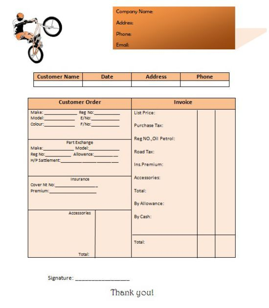 Motorcycle Invoice Template 12 Editable Invoices For Sales Service Template Sumo Invoice Template Templates Invoicing