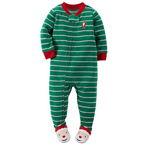 Carter's Baby Boys' Microfleece Footed Pajamas (12 Months, Green ...