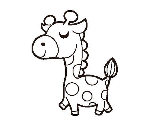 Dibujos De Animales Adorables Para Colorear: Dibujo De Jirafa Presumida Para Colorear
