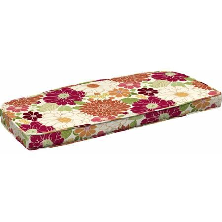 Better Homes and Gardens Outdoor Wicker Settee Cushion, Sorbet Floral