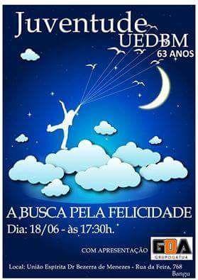 Juventude da UEDBM - União Espírita Dr Bezerra de Menezes Convida para o seu Aniversário de 63 Anos - Bangu - RJ - http://www.agendaespiritabrasil.com.br/2016/06/16/juventude-da-uedbm-uniao-espirita-dr-bezerra-de-menezes-convida-para-o-seu-aniversario-de-63-anos-bangu-rj/