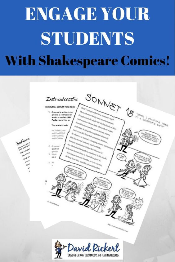 Engage Your Student With Shakespeare Comic Sonnet 18 Are A Fun And Entertai Teaching Lessons Paraphrase