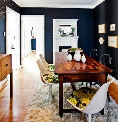 Strictly Simple Style: Making Dark Wood Work in a Modern Space