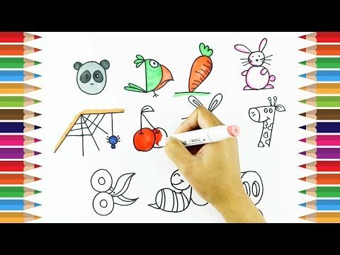 How To Draw Using Numbers 1 10 Learn Drawing For Kids Kids Art Tv Youtube Drawing For Kids Alphabet Drawing Learn To Draw