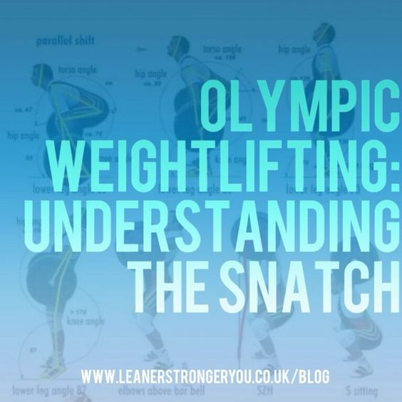 Olympic Weightlifting: Understanding The Snatch – Leaner Stronger You