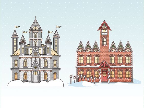 Another 2 of the ten workshops I illustrated with Fandango. From Santa Claus: The Movie and The Nightmare Before Christmas  Visit the link below to see the full project!  http://www.fandango.com/mo...