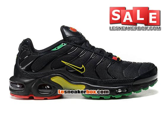 NIKE AIR MAX TN/TUNED REQUIN 2013 - CHAUSSURES NIKE SPORTSWEAR PAS CHER POUR HOMME Noir/Jaune/Vert/Rouge 604133-201