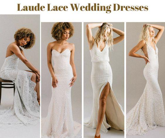 Forward Thinking Modern Lace Wedding Dresses by Laudae - Wedding Wikii