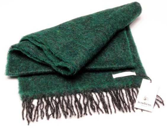 Mohair Scarf  //Tendress Woodruff Green