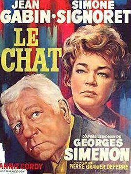"""Affiche """"Le Chat"""" avec Simone Signoret et Jean Gabin"""