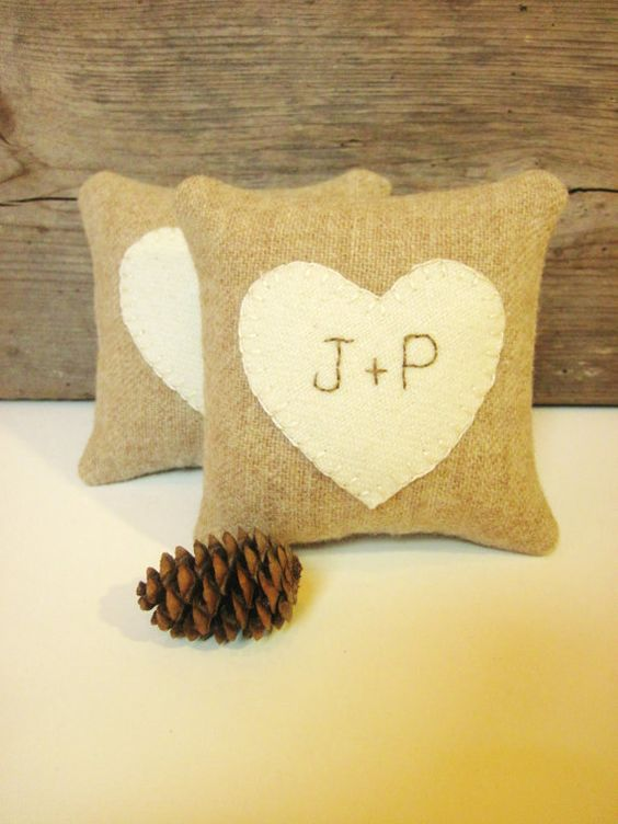 Maine Wedding Gift Bag Ideas : Rustic wedding favors, Ring bearer pillows and Wedding on Pinterest
