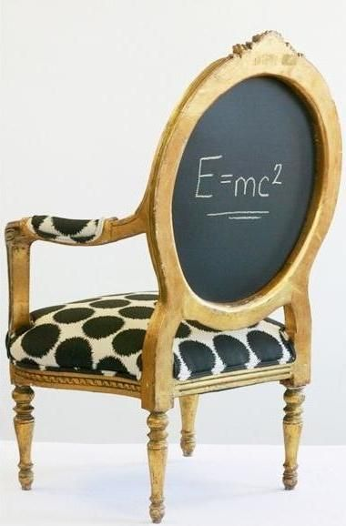 Chalk board chair back - fun! from Wild Chairy