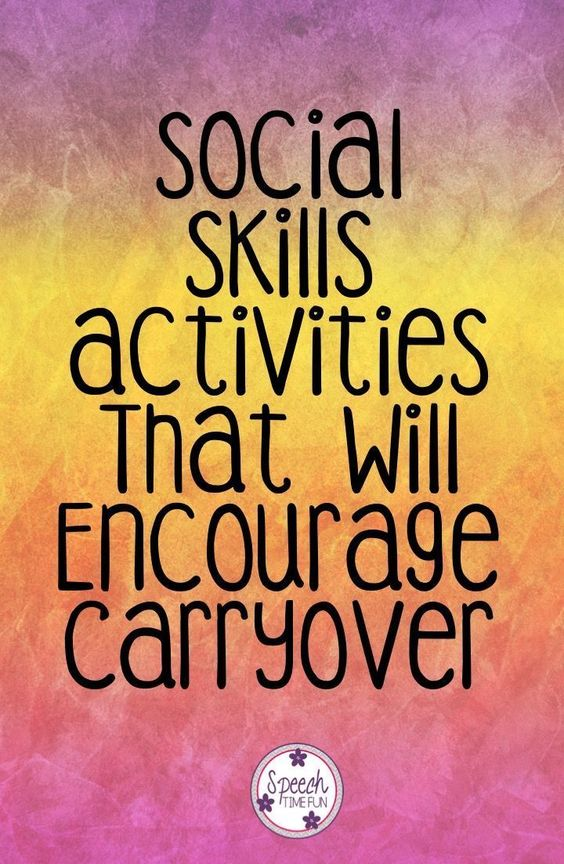 Speech Time Fun: Social Skills Activities That Will Encourage Carryover