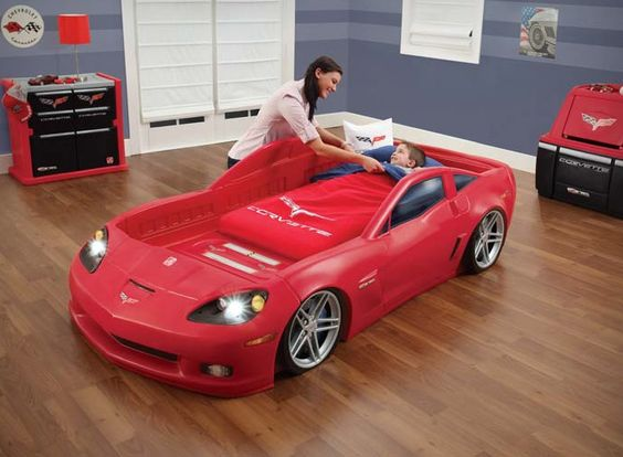 corvette car bed with lights for kids cool