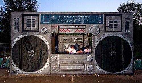 Lifesize Dj Booth Boombox. #djculture #boombox http://www.pinterest.com/TheHitman14/dj-culture-vinyl-fantasy/